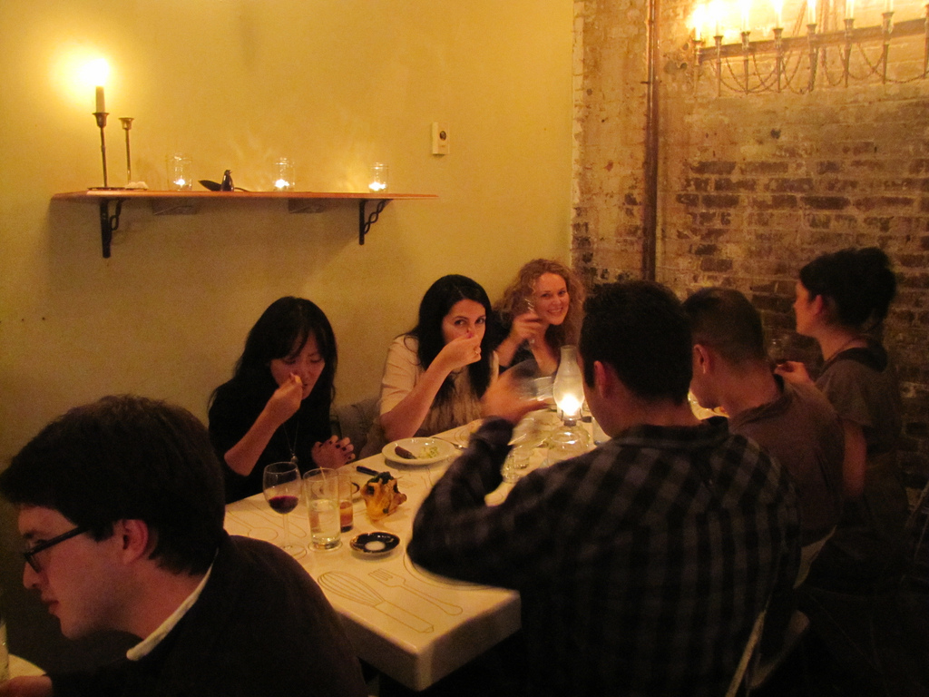 Photo by Cathy Erway of Hapa Kitchen. I poured these people wine all night long!