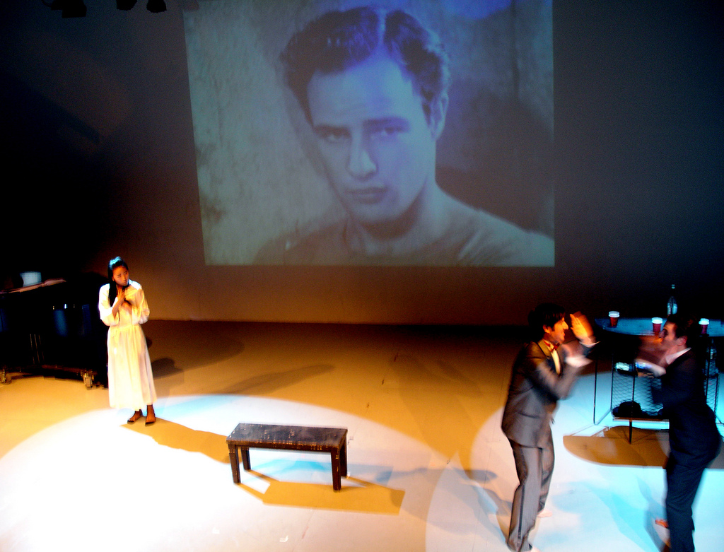 We performed my own rendition of an excerpt from A Streetcar Named Desire. Tennessee Williams ate his heart out, baby.
