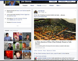 Screen Shots from Jon Bonne's Facebook post on my article
